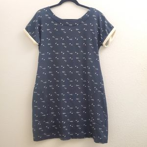 Annie 50 Paper Airplane Button Back Dress D13